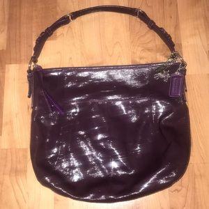 Coach Purple Paten Leather Bag